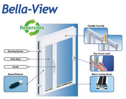 for Bella retractable screen door